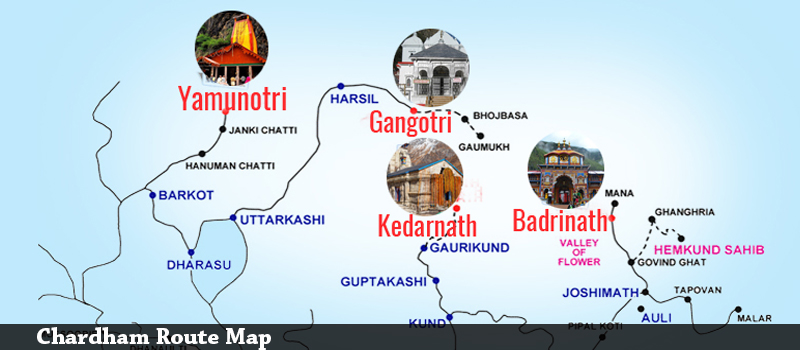 Chardham Route Map