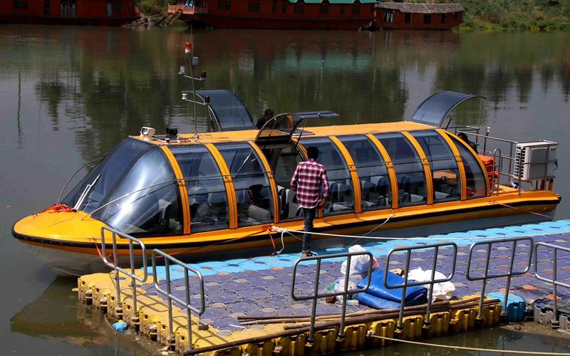 Bus Boat in Kashmir