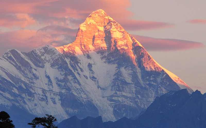 Himalayas Peaks from Auli
